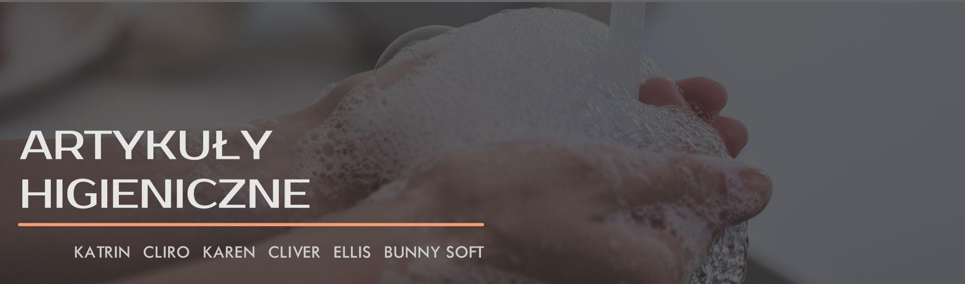 Artykuły higieniczne : ręcznik w roli i składane, papiery toaletowe